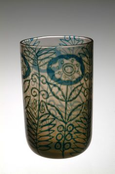 @@ Simon Gate (Swedish, 1883-1945), Orrefors, Graal Glass Vase.