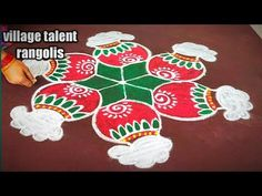 Rangoli Patterns, Rangoli Designs Images, Rangoli Ideas, Rangoli Designs Diwali, Diwali Rangoli, Indian Rangoli, Easy Rangoli, Rangoli Designs Latest, Rangoli Designs With Dots