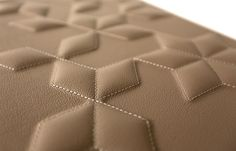 3D Leather Wall Panel in a Quilted Diamond Design by BMS Individual
