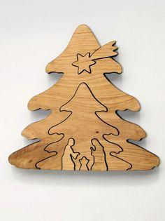 Weihnachtsdeko - Krippe Kontur Baumform - ein Designerstück von he-brandl bei DaWanda