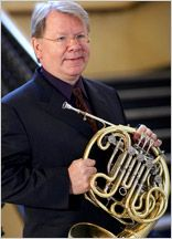 """William Purvis, French horn - featured guest artist at the March 16, 2013, concert, """"Hornucopia,"""" of the Brevard Symphony Orchestra"""