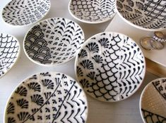 Some very cool ceramics, from Cynthia Vardhan's shop at Etsy. She has other great combinations as well. (via: House Beautiful)