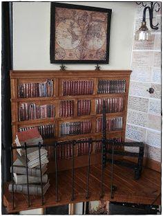 endlich fertig *g* Die Bilder hängen.....die Bücher sind eingeräumt....das Licht brennt......es herrscht gespenstische Stille.......