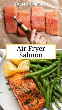 Air Fryer Oven Recipes, Air Frier Recipes, Air Fryer Dinner Recipes, Air Fryer Recipes Salmon, Air Fryer Recipes Videos, Healthy Desayunos, Healthy Meal Prep, Eating Healthy, Quick Easy Healthy Dinner
