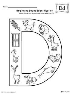 letter n beginning sound color pictures worksheet kindergarten pinterest worksheets. Black Bedroom Furniture Sets. Home Design Ideas