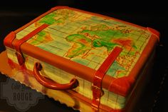 World Suitcase Cake
