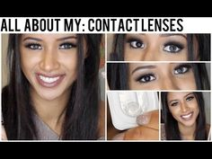 All About My: Contact Lenses! • Grey Freshlook Colorblends on Brown Eyes • - YouTube