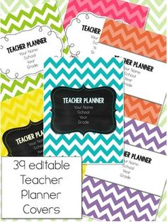 Teacher Planner - Chevron Theme {redownload the updates for free each year}