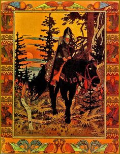 "Ilustración de título para ""Marya Morevna"" (1900)    Casi me averguenza decir…"