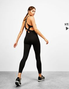 Technical sport jumpsuit with straps - Bershka Start Moving - Bershka Croatia