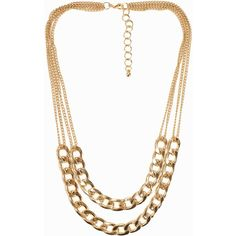 Nly Accessories Double Chain Necklace (95 VEF) ❤ liked on Polyvore featuring jewelry, necklaces, accessories, gold, womens-fashion, yellow gold chain necklace, gold chain jewelry, nickel free necklace, chain necklace and gold jewellery