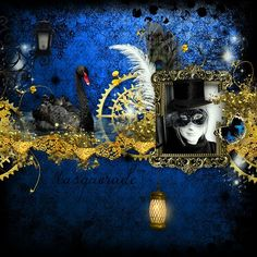 """My page with """"Masquerade"""" by Kitty Scrap"""