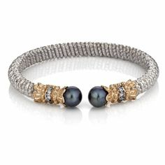 Black Pearl & Diamond Bracelet by Vahan