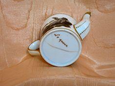 PORCELAINE DE PARIS VERSEUSE LITRON EGOÏSTE DECOR GRISAILLE FIN XVIIIE SIECLE in Céramiques, verres, Céramiques françaises, Porcelaine de Paris | eBay