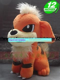 Pocket Monster Growlithe Pocket magic dog baby carty plush doll gift muppets 30cm cute toy gift