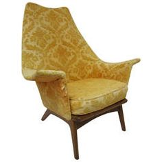 Fabulous Adrian Pearsall Wing Back Walnut Lounge Chair Mid-Century Modern | From a unique collection of antique and modern lounge chairs at https://www.1stdibs.com/furniture/seating/lounge-chairs/