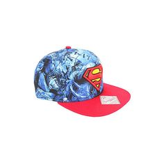 buy online 57ad7 ef3f4 DC Comics Superman Logo Sublimation Snapback Hat Hot Topic ( 15) ❤ liked on  Polyvore featuring accessories, hats, embroidery hats, print snapback, ...