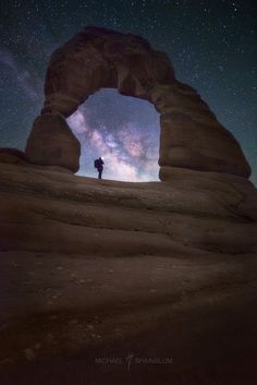 """Delicate Discovery - VIEW ON BLACK  """"Delicate Discovery""""  One of the many images from my night at Delicate Arch in Arches National Park. It was an interesting shooting experience for me. Most of the time when I shoot the Milky Way I am alone or with one other person, we usually do not run into any other photographers during the night. At Delicate Toby and I shared the space with over 15 other photographers who all wanted a turn to """"light paint"""" the arch. It made it had for me, as I usually…"""
