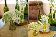 simple wedding flowers for tables - Google Search