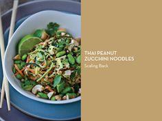 ZUCCHINI NOODLES 10 WAYS – Thai Peanut Zucchini Noodles