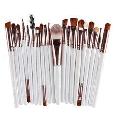15pcs Makeup Brushes  #me #makeup #tweegram #summer #picoftheday #followme #tbt #nofilter #love #picstitch