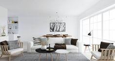 Nordic Interior Design ATDesign Nordic Style Living In Monochrome  #livingroom #livingroomdesign #homeimprovement #homedesign