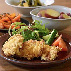 鶏むね肉のふわふわ竜田揚げ     あさこ食堂