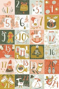 Illustrated Advent Calendar Round Up by Katy Bloss