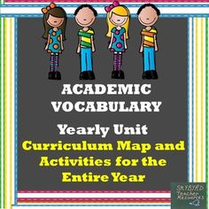 Word of the Week Interactive Academic Vocabulary Yearly Unit