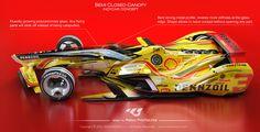 ArtStation - Semi Closed Canopy Indycar, Matus Prochaczka