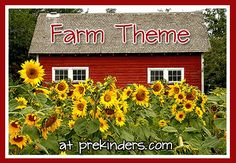 Farm theme activities, lessons, and printables for Pre-K, Preschool, and Kindergarten. Get 20 Farm Theme Printables in My Shop! Country Life, Country Decor, Country Barns, Growing Sunflowers, Planting Sunflowers, Farm Activities, Preschool Farm, Preschool Ideas, Farm Unit