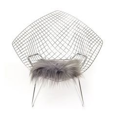 Icelandic Chair pad longhair Silver - Chair Pads - Categories