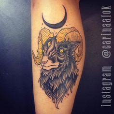 Baphomet Tattoo - Original Dragão Tattoo Studio. Savassi, BH.