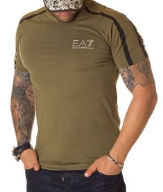 Armani Tricou Emporio 7 - Verde   Tricouri cu guler rotund   Tricouri   Brande Giorgio Armani, Mens Tops, T Shirt, Fashion, Green, Supreme T Shirt, Moda, Tee Shirt, Fashion Styles