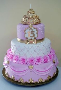 89-9 Beautiful Birthday Cakes, Beautiful Cakes, Amazing Cakes, 15th Birthday Cakes, Birthday Cake Girls, Sweet 16 Cakes, Cute Cakes, Fondant Cupcakes, Cupcake Cakes