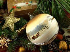 Hand painted ArtWilk Glass Christmas Balls, Painted Christmas Ornaments, Christmas Art, Christmas Ideas, Christmas Bulbs, China Painting, Rock Painting, Painted Rocks, Hand Painted