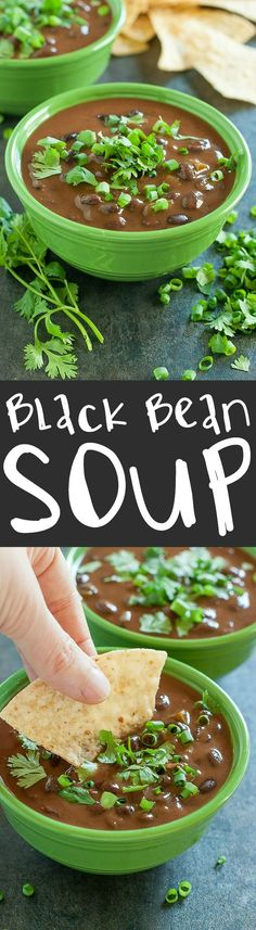 Slow Cooker Black Bean Soup :: take the night off and let the crock-pot do all the work!