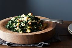 Caesar-Style Kale Salad with Roasted Onions and Ricotta Salata, a recipe on Food52