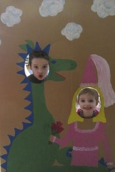 Dragon and Princess Party Photo Op - I could totally see the people from work taking photos after a few....  LOL