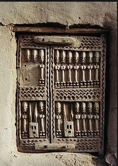 Africa   Carved wooden Dogon Door
