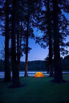 camping at Kootenai Lodge Montana