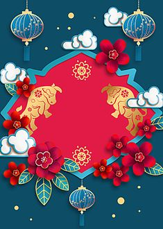 blue,year of the ox,chinese new year,festive,frame,new year,background,spring festival background,clouds,lantern Chinese New Year Zodiac, Chinese New Year Poster, Chinese New Year Design, Chinese New Year Greeting, Chinese New Year 2020, New Year Greeting Cards, Happy Chinese New Year, New Year Greetings, Floral Background Hd