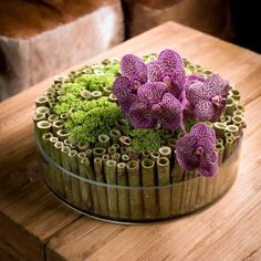 Billedresultat for geert pattynBeautiful arrangement with Fallopia japonica, Sedum and Vanda.Todays most influential Floral Designers - Flowers Across Melbourne could alter colours Art Floral, Deco Floral, Arrangements Ikebana, Modern Flower Arrangements, Modern Floral Design, Deco Nature, Table Flowers, Flower Boxes, Flower Decorations