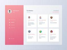 Conceptual Dashboard UI Team Members Screen by Ali Sayed Dashboard Ui, Dashboard Design, App Ui Design, Interface Design, Page Design, Design Design, Graphic Design, User Interface, Banner Design Inspiration