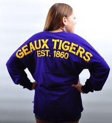 LSU Geaux Tigers Womens Spirit Shirt - love this but opposite colors