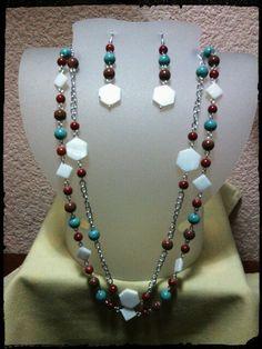 Perla y piedra natural!