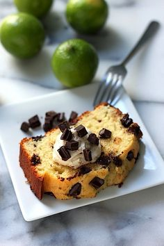 Dark Chocolate Chunk Coconut Key Lime Pound Cake - I love every word of this recipe title!