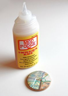 mod-podge magnets