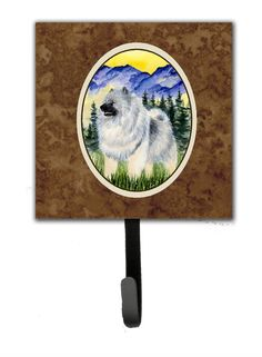 Keeshond Leash Holder and Wall Hook