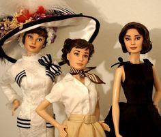 Audrey Hepburn OOAK dolls